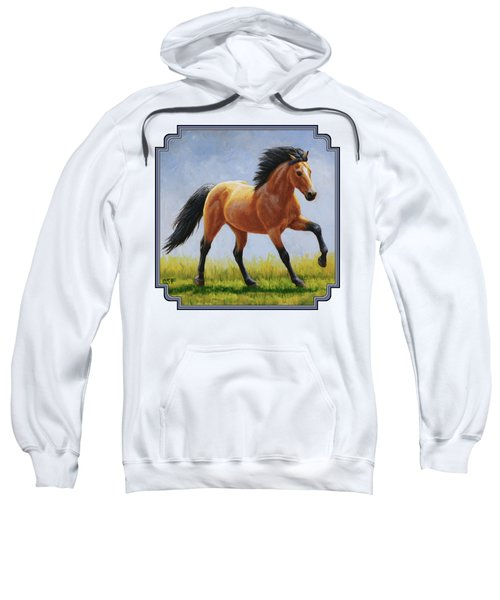 Buckskin Horse - Morning Run Sweatshirt