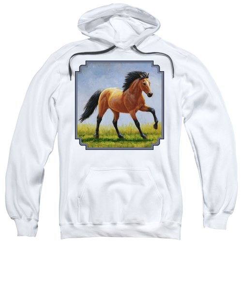 Buckskin Horse - Morning Run Sweatshirt