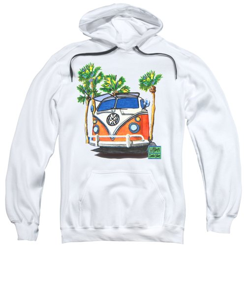 Volkswagen  Vw Bus Surfing Hippie Camper Sweatshirt