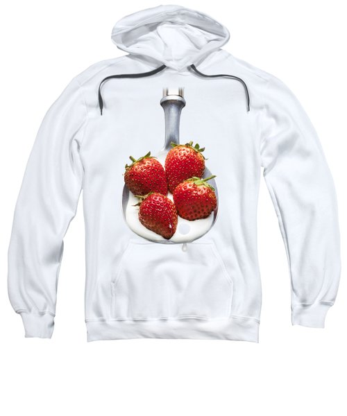 Strawberries N Cream Sweatshirt by Jon Delorme