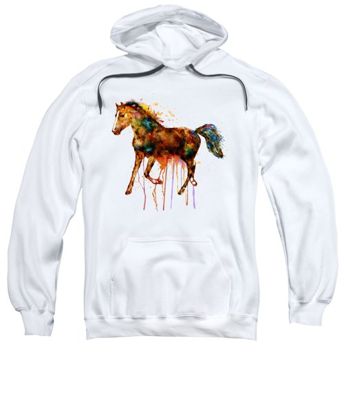 Watercolor Horse Sweatshirt by Marian Voicu
