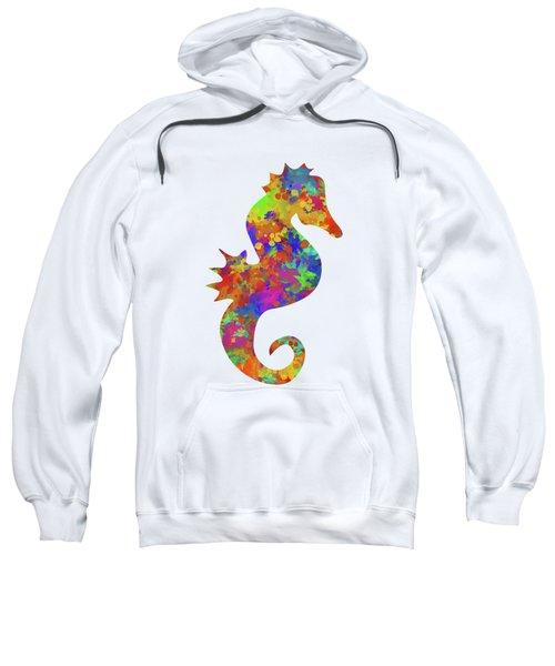 Seahorse Watercolor Art Sweatshirt