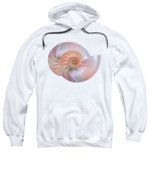 Pink Pearlescent Nautilus Shells Sweatshirt