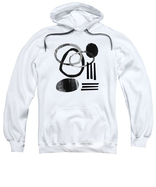 Black And White- Abstract Art Sweatshirt