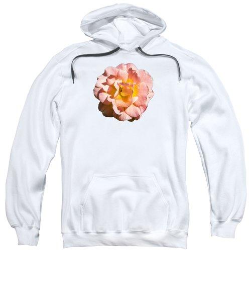 Peach Rose Sweatshirt by Brian Manfra