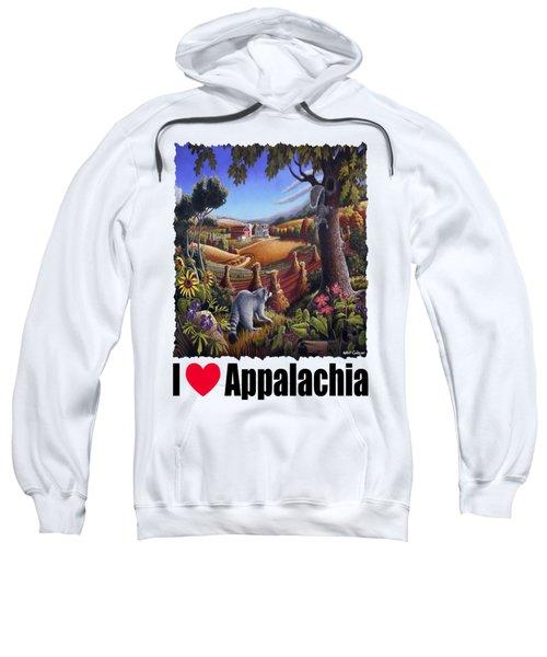 I Love Appalachia - Coon Gap Holler Country Farm Landscape 1 Sweatshirt