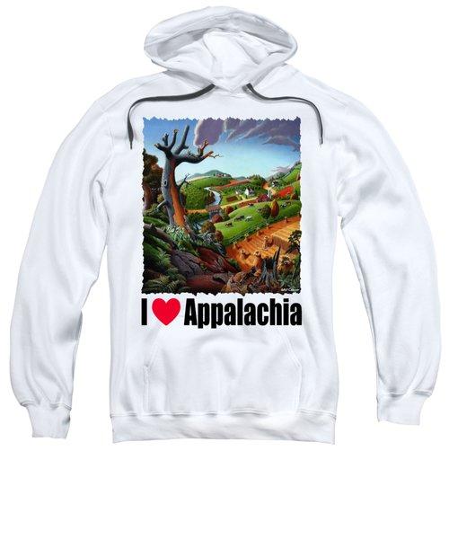 I Love Appalachia - Appalachian Wheat Field Harvest Rural Landscape Sweatshirt