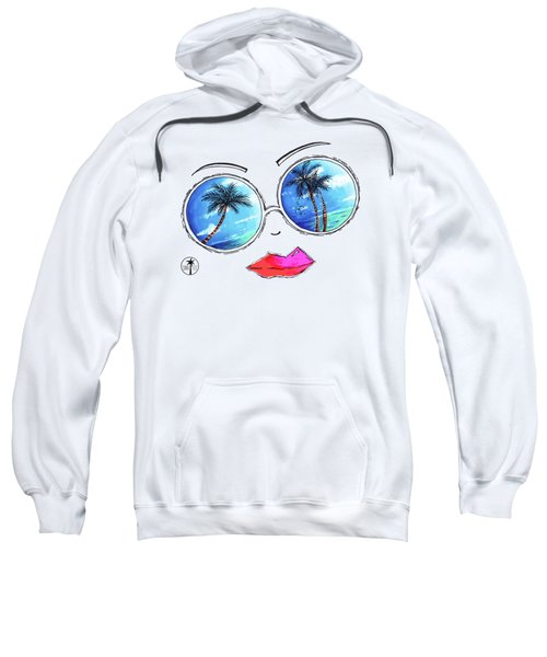 Tropical Reflection Pop Art Painting From The Aroon Melane 2015 Collection By Madart Sweatshirt