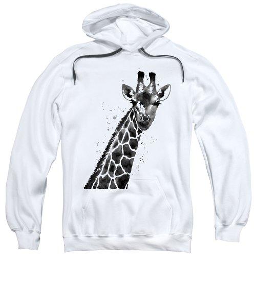 Giraffe In Black And White Sweatshirt