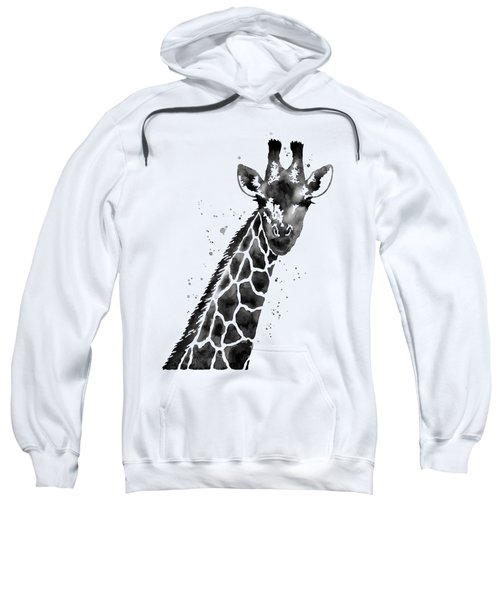 Giraffe In Black And White Sweatshirt