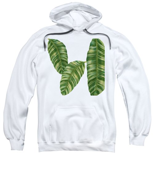 Rainforest Resort - Tropical Banana Leaf  Sweatshirt