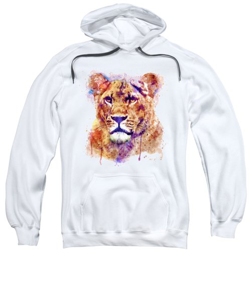 Lioness Head Sweatshirt by Marian Voicu