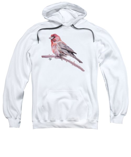 House Finch Sweatshirt by Angeles M Pomata