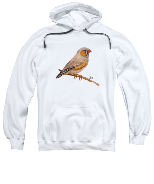 Zebra Finch Sweatshirt by Angeles M Pomata