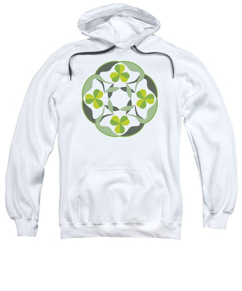 Celtic Inspired Shamrock Graphic Sweatshirt
