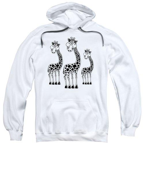 Fudge The Giraffe Sweatshirt by Lucia Stewart
