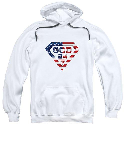 3 D Patriotic Design Sweatshirt by Roshanda Prior