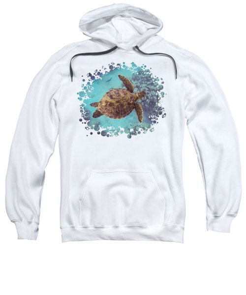 Swimming Honu From Above Sweatshirt