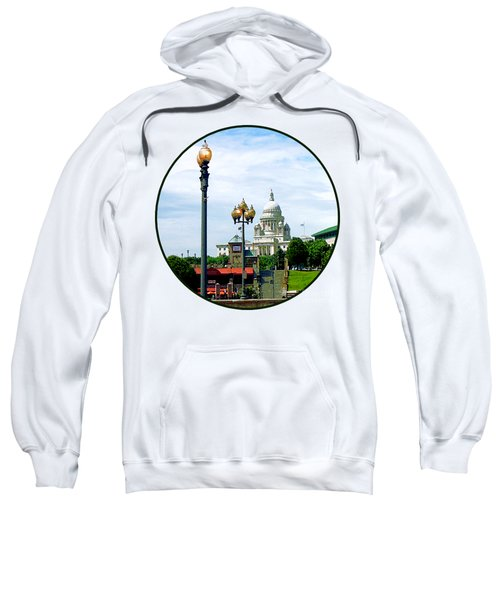 Capitol Building Seen From Waterplace Park Sweatshirt by Susan Savad