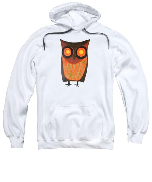 Give A Hoot Orange Owl Sweatshirt