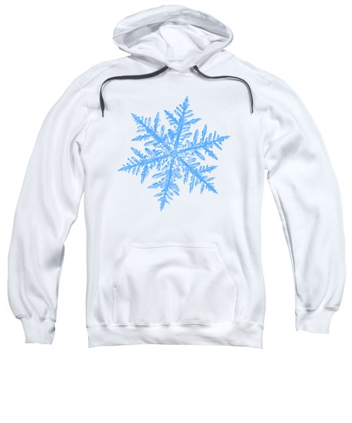 Snowflake Vector - Silverware White Sweatshirt