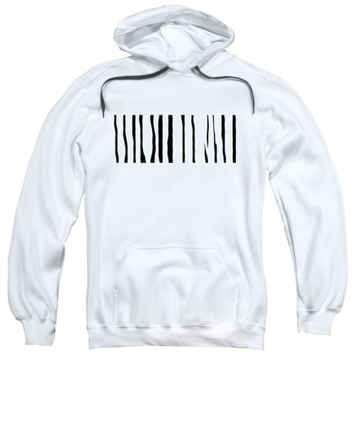 Organic No 12 Black And White Line Abstract Sweatshirt