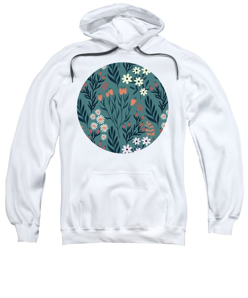 Beautiful Springtime Evening Garden Pattern Sweatshirt