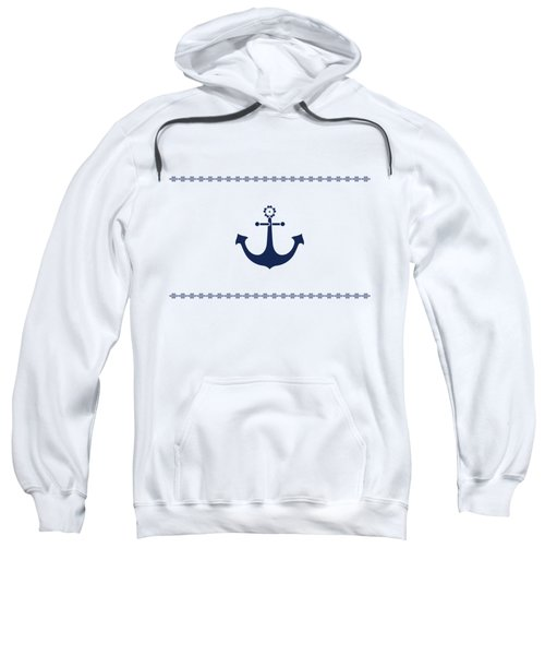 Anchor With Knot Border In Blue Sweatshirt