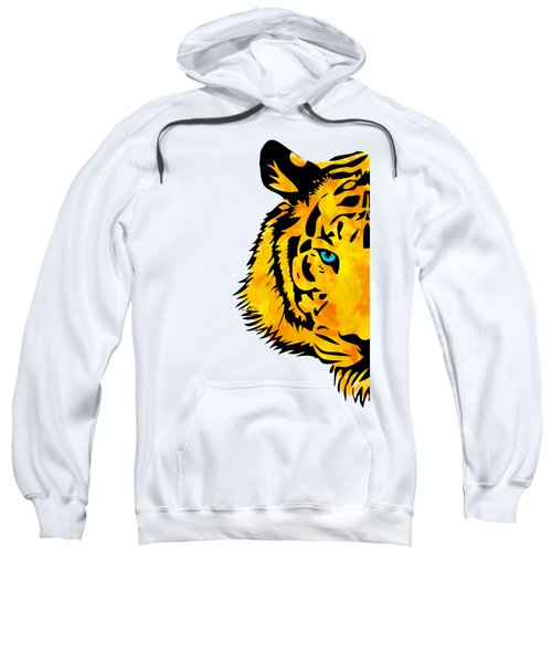 Half Tiger Digital Painting Sweatshirt
