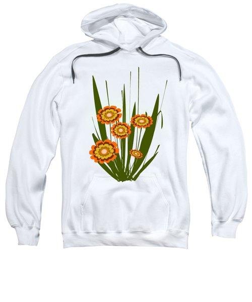 Orange Flowers Sweatshirt