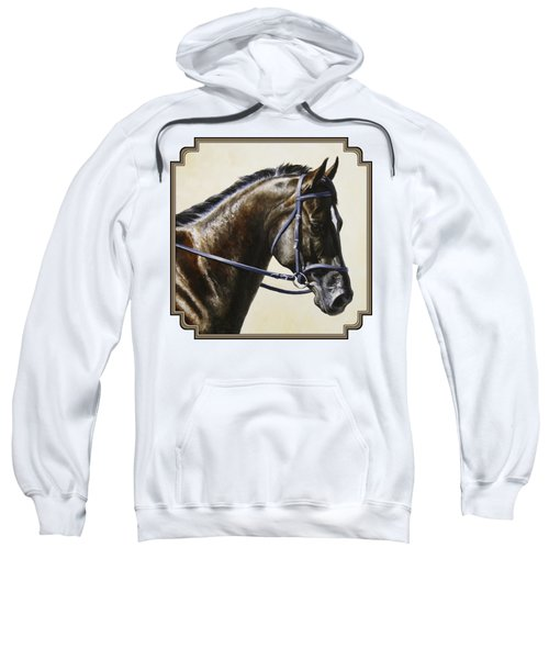 Dressage Horse - Concentration Sweatshirt by Crista Forest