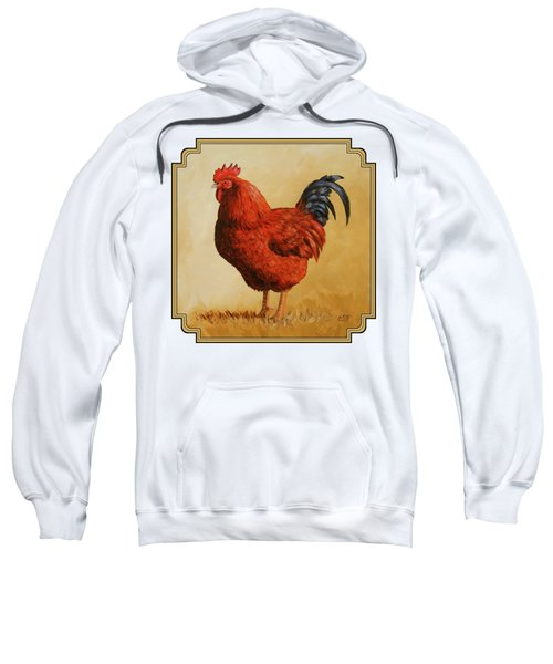 Rhode Island Red Rooster Sweatshirt by Crista Forest