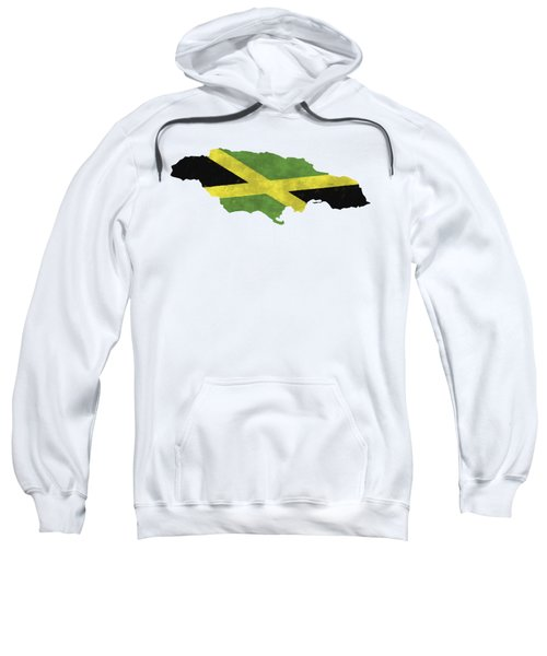 Jamaica Map Art With Flag Design Sweatshirt