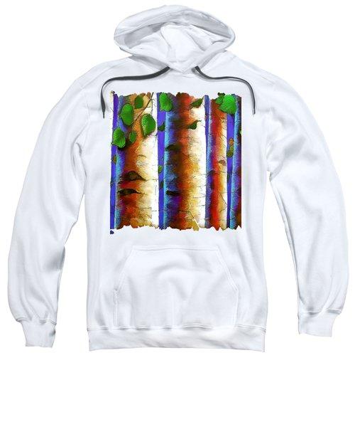 Aspen Trees Fresco Sweatshirt