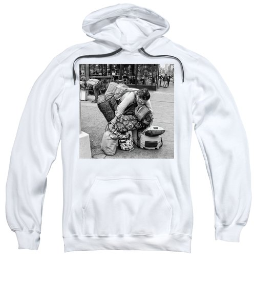 Sweatshirt featuring the photograph Bag Lady by Eric Lake