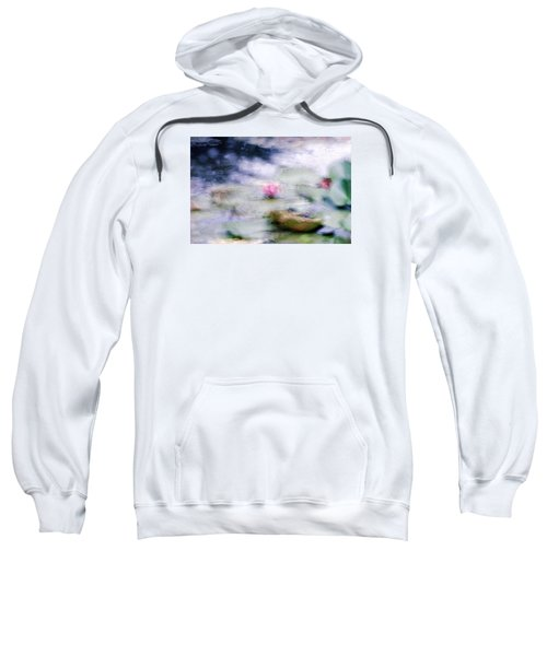 Sweatshirt featuring the photograph At Claude Monet's Water Garden 12 by Dubi Roman