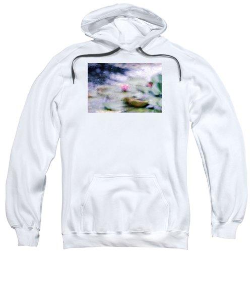 Sweatshirt featuring the photograph At Claude Monet's Water Garden 12 by Dubi Roman