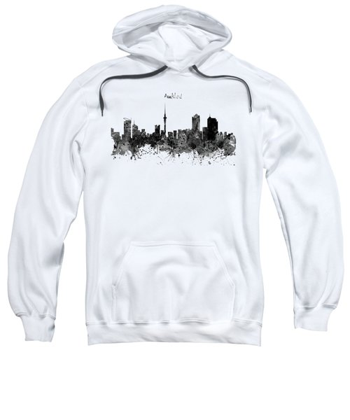 Auckland Black And White Watercolor Skyline Sweatshirt