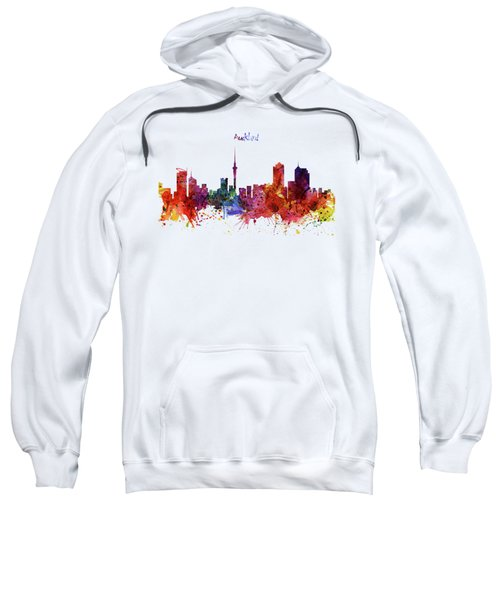 Auckland Watercolor Skyline Sweatshirt