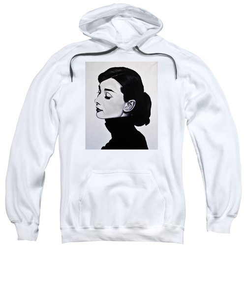 Audrey Hepburn 1 Sweatshirt by Brian Broadway