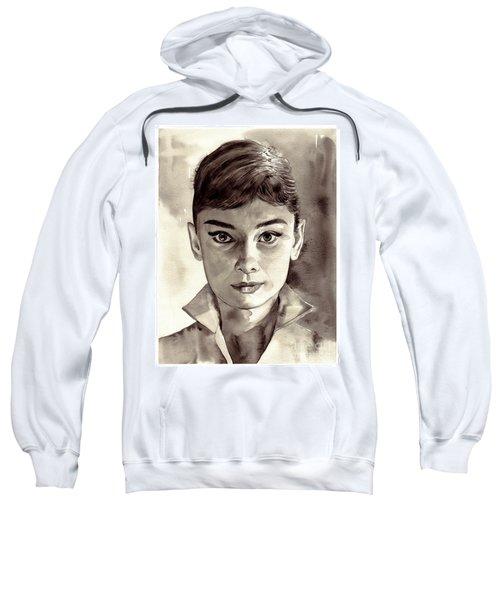 Audrey Hepburn Black And White Sweatshirt