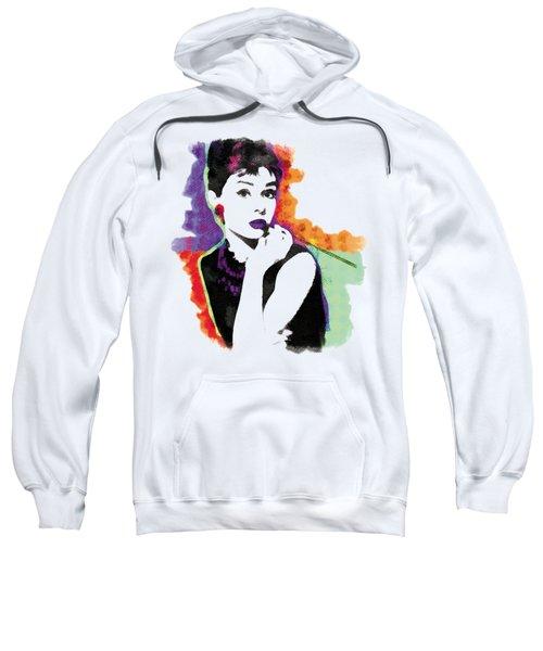 Audrey Hepburn Pop-art Sweatshirt by Magdalena Raszewska
