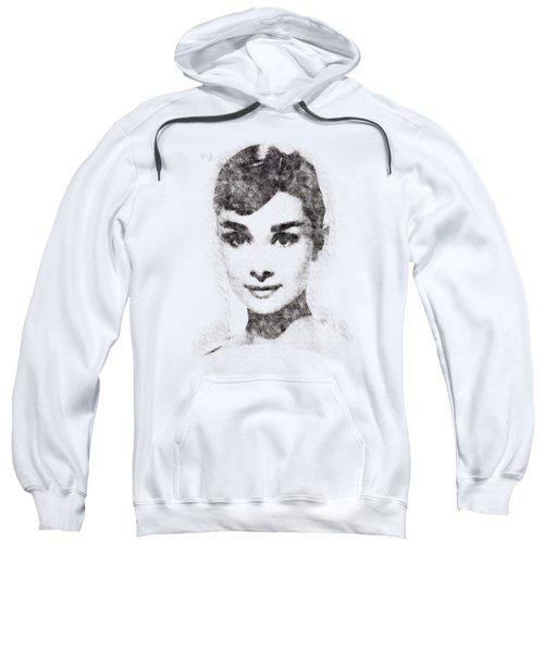 Audrey Hepburn Portrait 02 Sweatshirt by Pablo Romero