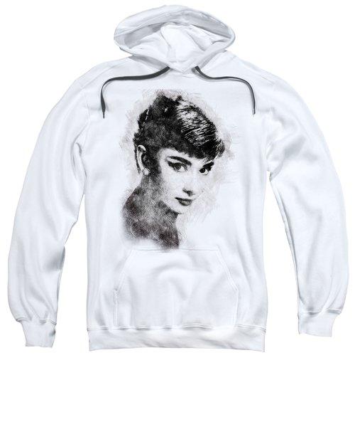Audrey Hepburn Portrait 03 Sweatshirt by Pablo Romero