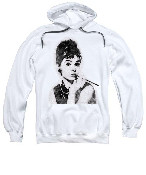 Audrey Hepburn Portrait 04 Sweatshirt