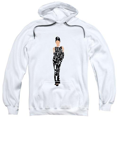 Audrey Hepburn Typography Poster Sweatshirt