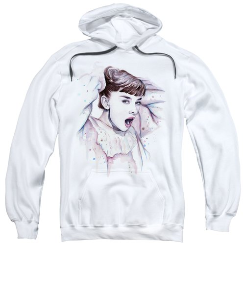 Audrey - Purple Scream Sweatshirt by Olga Shvartsur