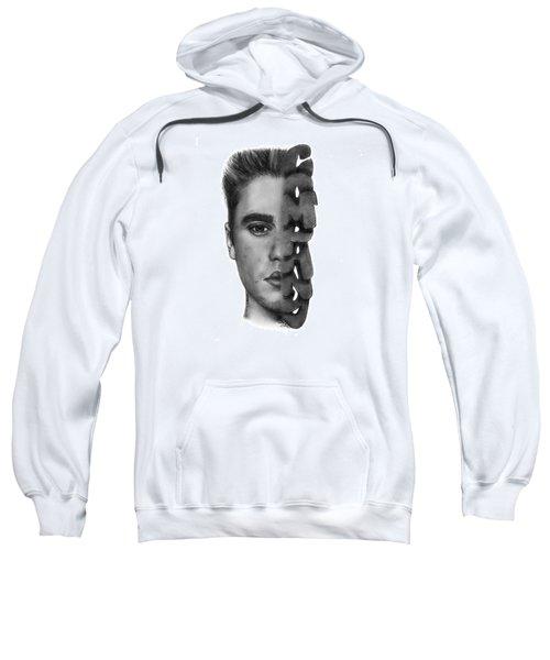 Justin Bieber Drawing By Sofia Furniel Sweatshirt