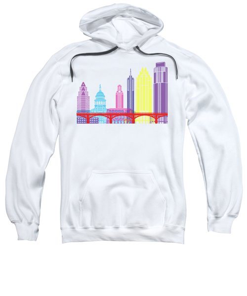 Austin Skyline Pop Sweatshirt by Pablo Romero