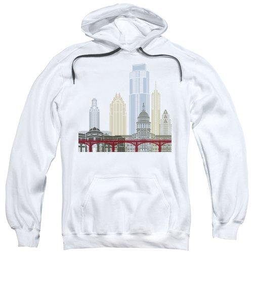 Austin Skyline Poster Sweatshirt